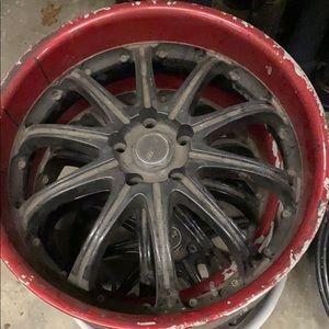 """Four 20"""" wheels"""